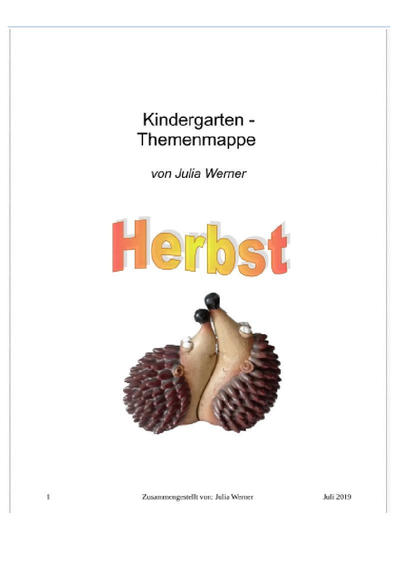 Kindergarten Themenmappe Erlebnisse Mit Miss Baby